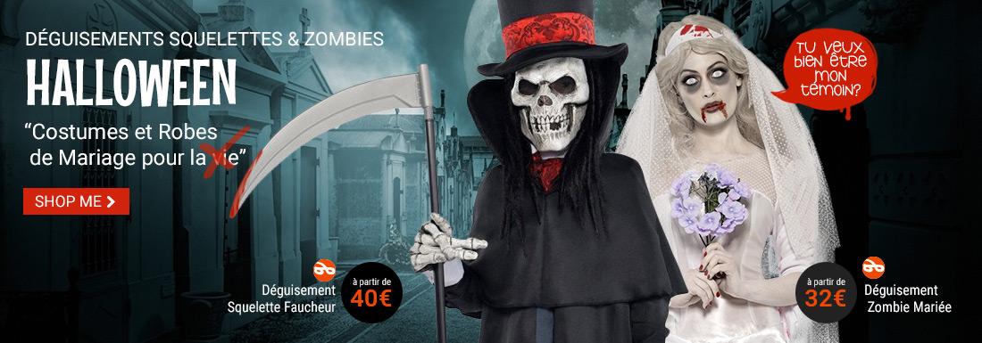 Halloween squelettes et zombies Guizme