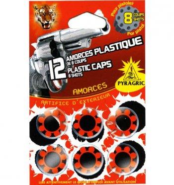 12 Amorces plastiques de 8 coups