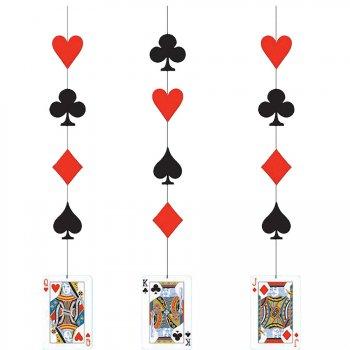 3 Décorations à suspendre Casino