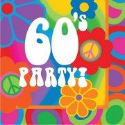 16 Serviettes 60's Party !