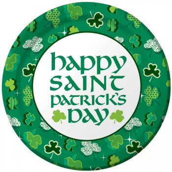 8 Assiettes Happy St Patrick