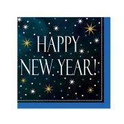 18 Petites Serviettes Happy New Year