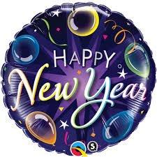 Ballons à Plat Happy New Year