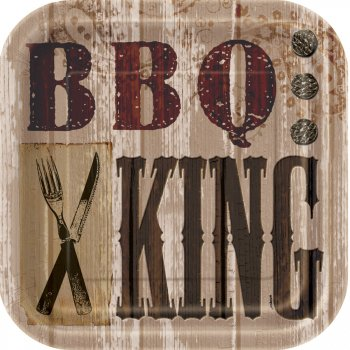 8 Assiettes BBQ King