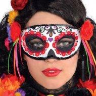 Masque Loup Catrina Calavera