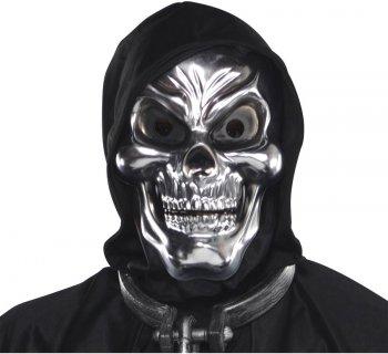 Masque Squelette Argent 3D - Adulte
