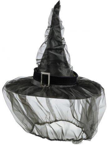 Chapeau sorcière avec voile
