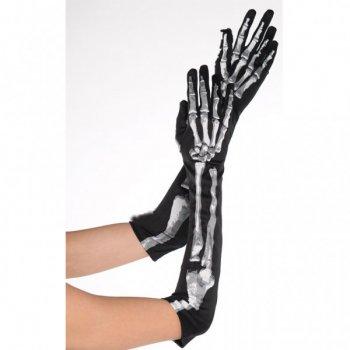 Gants Squelette Noir/Blanc