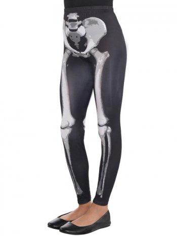 Legging Squelette Noir/Blanc 8-10 ans