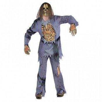 Déguisement de Squelette Zombie Cheveux longs Adulte - Taille Unique