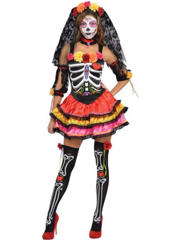Déguisement de Squelette Catrina Sexy