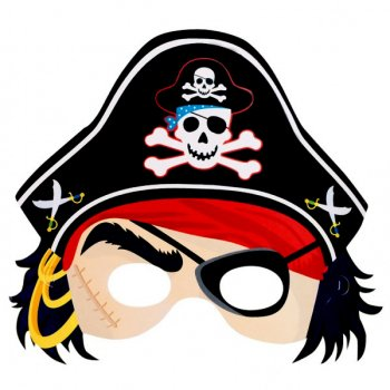 Lot de 6 Masques de pirates