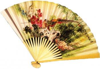 Eventail Asiatique papier décoré