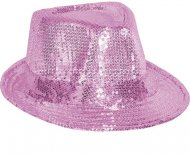 Chapeau Disco Paillettes Rose