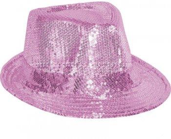 Chapeau Disco Paillettes Rose
