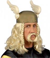 Perruque et moustache de Gaulois Blond