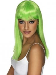 Perruque Glamourama Vert fluo