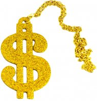 Collier Dollar Strass Or