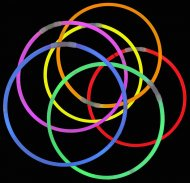 25 Colliers Lumineux Fluo Couleurs assorties