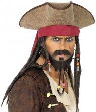 Chapeau Pirate avec Dreadlocks