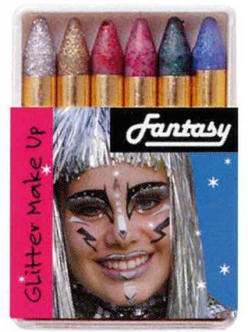 6 Crayons Fards à Paillettes