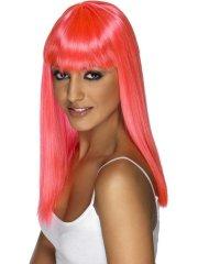 Perruque Glamourama Rose fluo