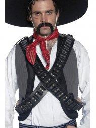 Cartouchière bandoulière western