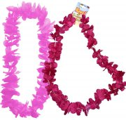 Collier hawaïen rose