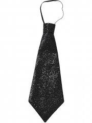 Cravate pailletée Noir