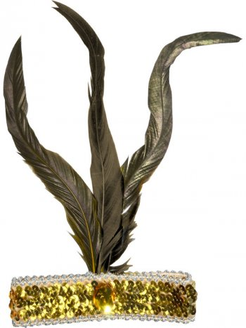 Bandeau Charleston Or à Plume