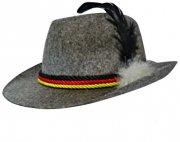 Chapeau Bavarois Gris avec Plume