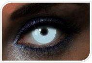 Lentilles fantaisie Blanches Phosphorescentes - 1 an