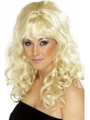 Perruque Bouclée à Frange 60's blonde