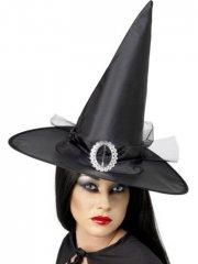 Chapeau de Sorcière avec boucle et voile