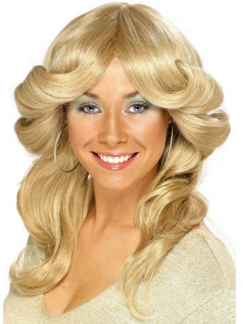 Perruque Diva 70 s Disco Blonde