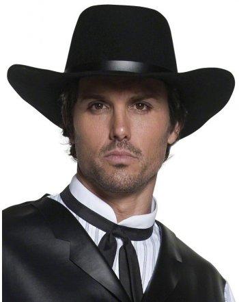 Grand Chapeau de Cowboy Noir