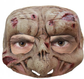 Demi Masque Zombie en Latex