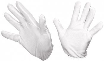 Gants blancs courts