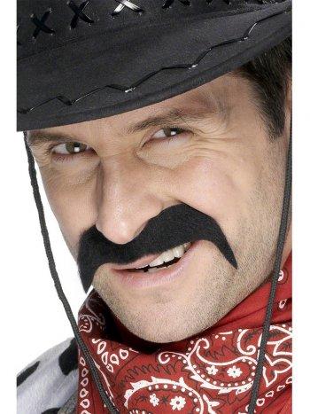 Moustache de Cowboy Noire