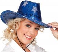 Chapeau USA Étoiles bleu