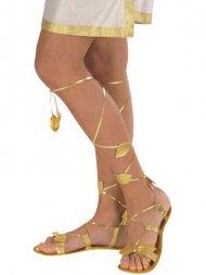 Sandales Lacées Or