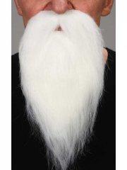 Barbe avec moustache blanche