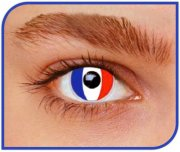 Lentilles Drapeau France - 1 mois