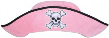 Chapeau Pirate Fille Rose