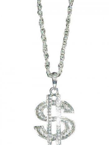 Collier Dollar métal