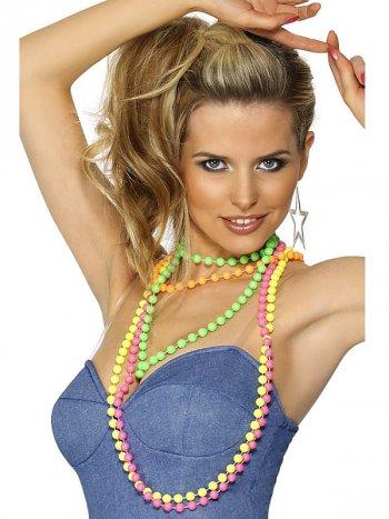Collier de Perles Fluo 80 s