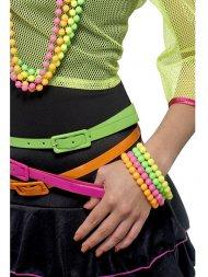 Bracelets de Perles Couleur Fluo 80's