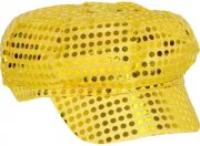 Casquette Disco Paillettes Or