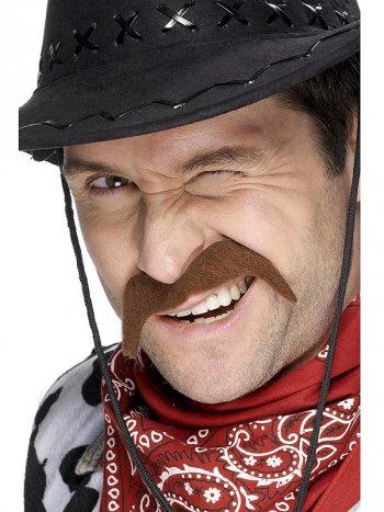 Moustache de Cowboy Châtain
