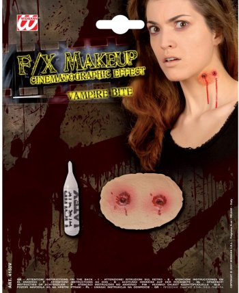 Maquillage latex Morsure de Vampire